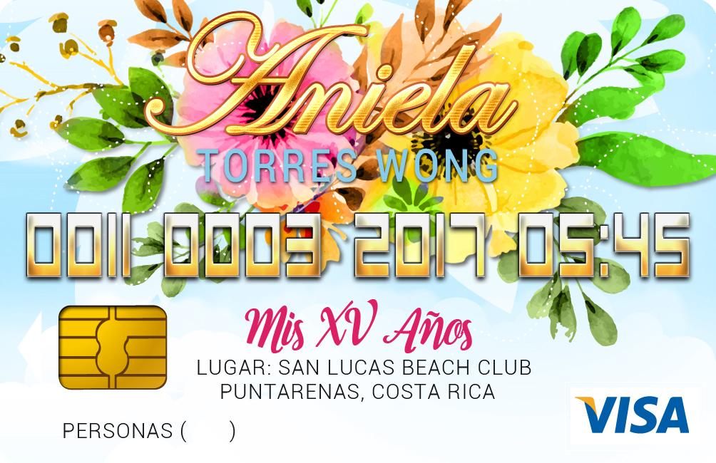 Invitación Credit Card Quinces