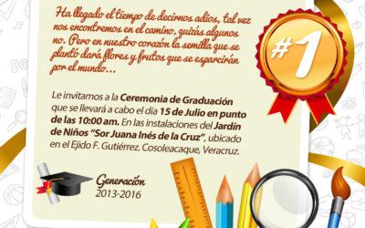 Invitación Graduación Kinder