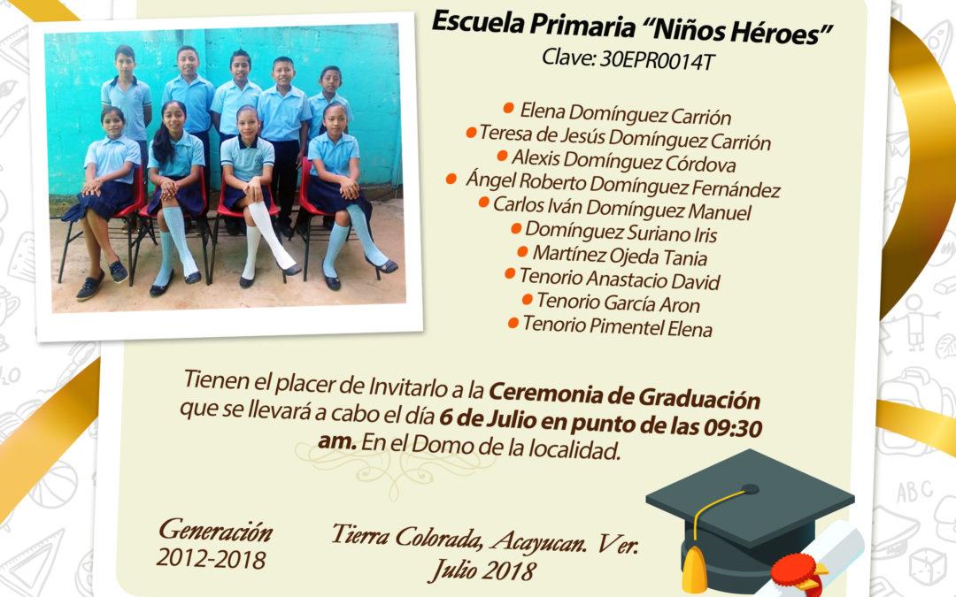 Invitación para Graduación Primaria