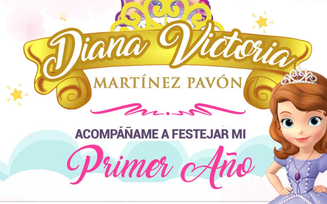 Invitación Princesita Sofía
