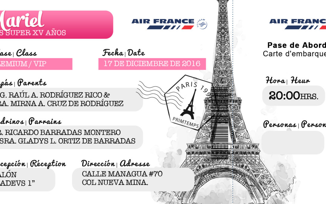 Invitación Ticket Air France