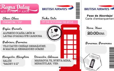 Invitación Ticket British Airways